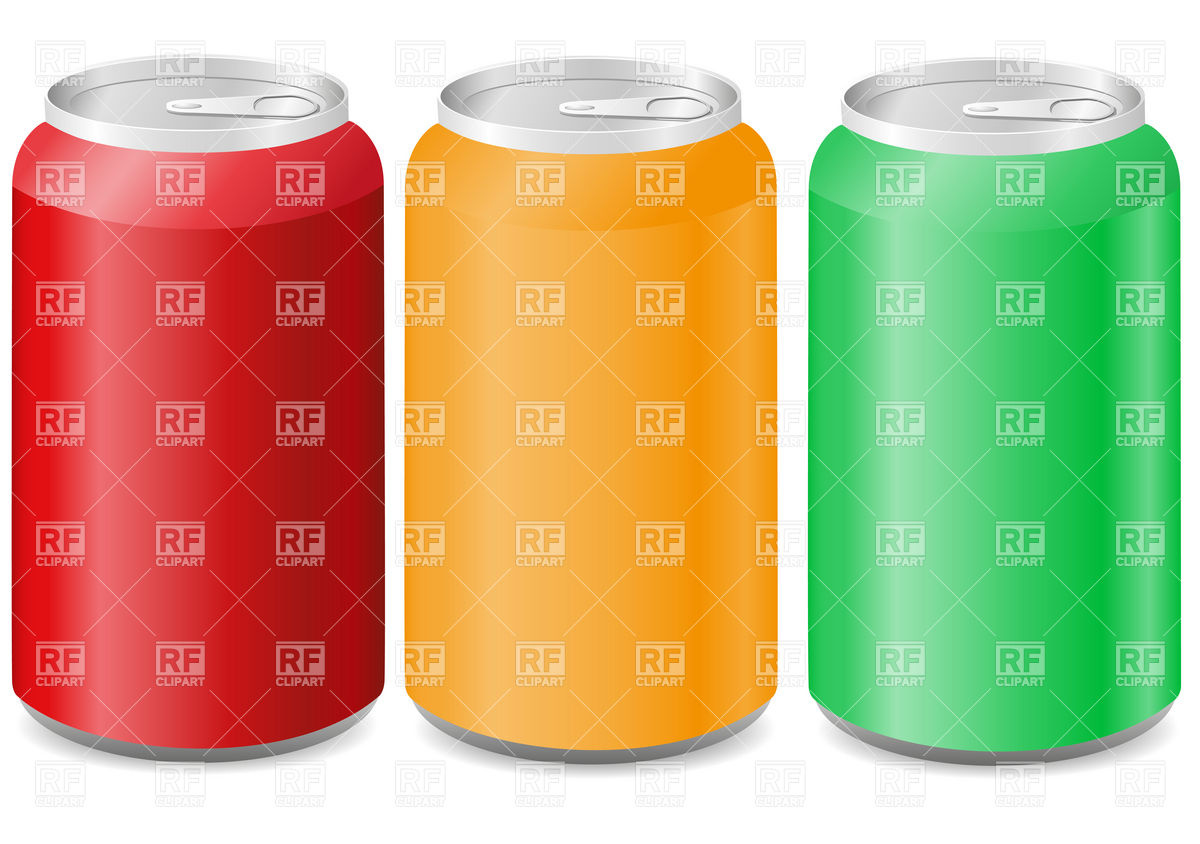 Coloured aluminum blank cans Stock Vector Image.