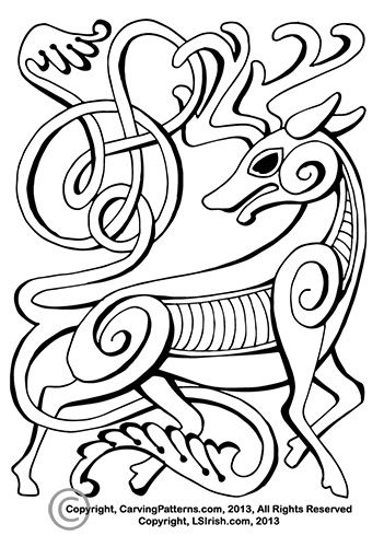 Free Celtic Animal Relief Patterns.
