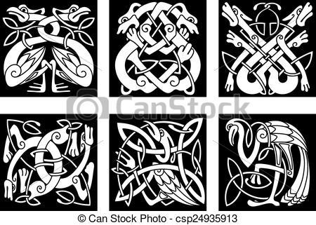 Clip Art Celtic Animals.