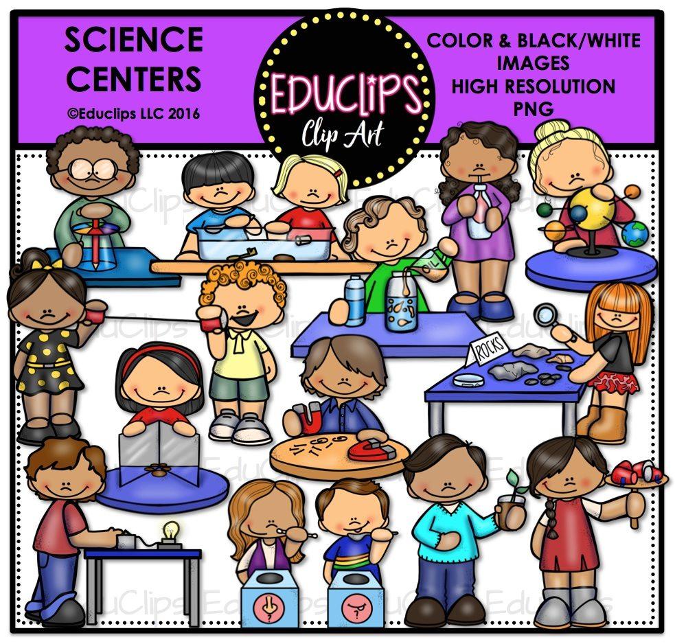 Science Centers Clip Art Bundle (Color and B&W).