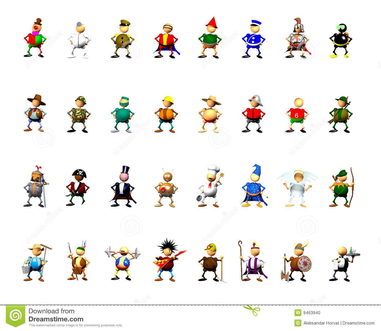 46+ Character Clip Art.
