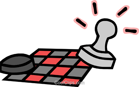 chess and checkers Royalty Free Vector Clip Art illustration.