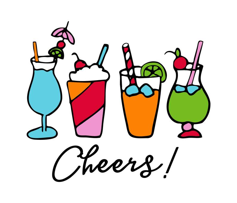 SVG Clipart Cocktail Drinks Cheers!.