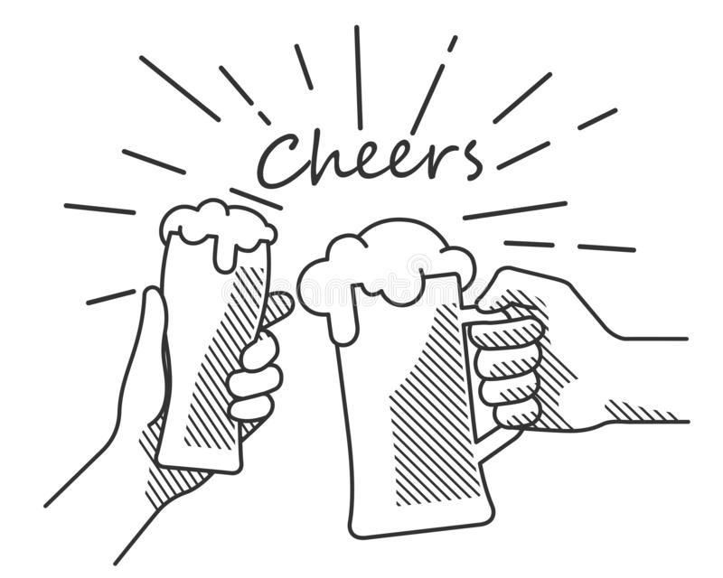 Cheers Stock Illustrations.