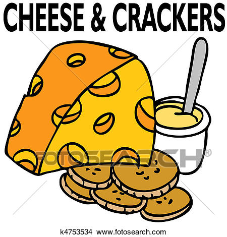 Cheese and Crackers Clipart.