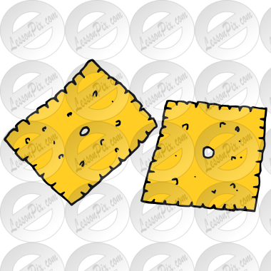 Cheese Crackers Picture for Classroom / Therapy Use.