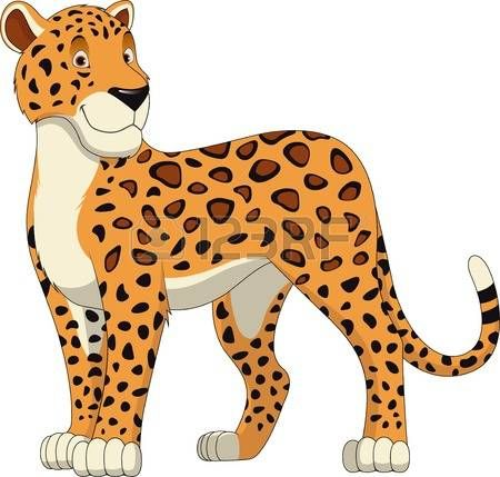 Image result for clipart of cartoon cheetah.