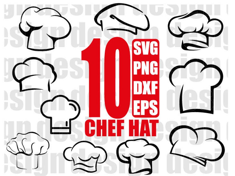 CHEF HAT SVG, chef hat clipart, chef svg, kitchen svg, cook hat svg, cook  svg, for cricut, for silhouette, png.