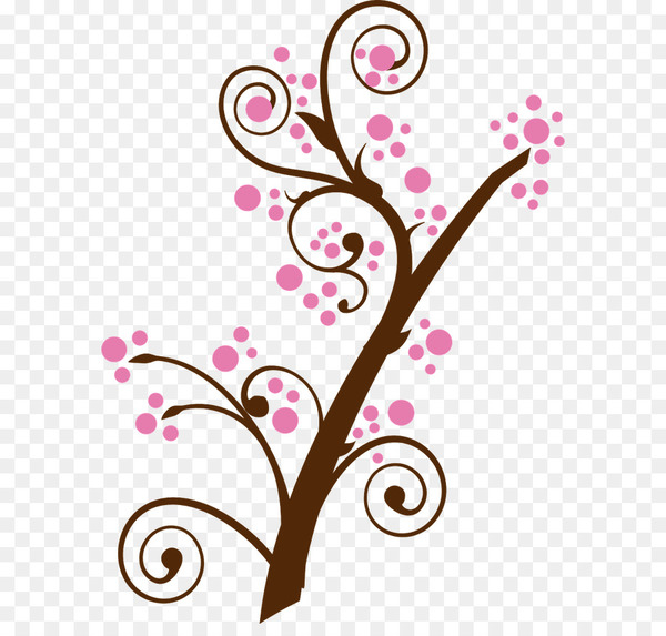 Clip art Cherry blossom Borders and Frames Image.