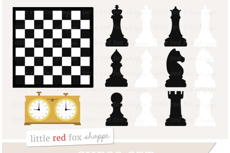 Chess Set Clipart.