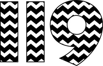 Black and White Chevron Numbers.