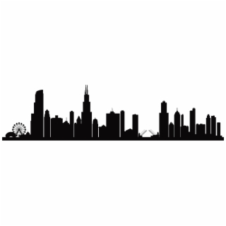 HD Chicago Skyline Silhouette Png Transparent PNG Image Download.