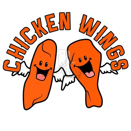 chicken wings clipart.