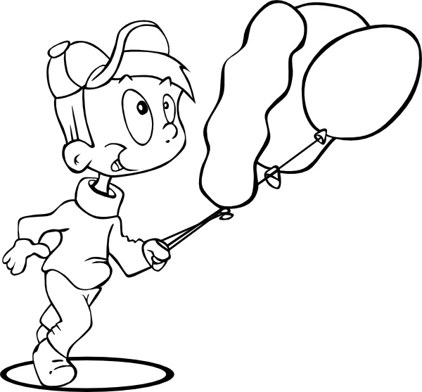 Outline Boy Running clip art Free vector in Open office drawing svg.