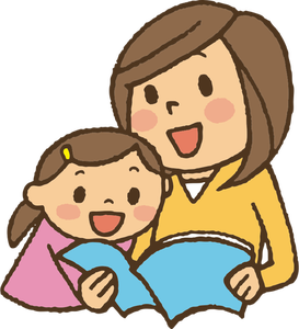 2698 free clipart parent reading to child.