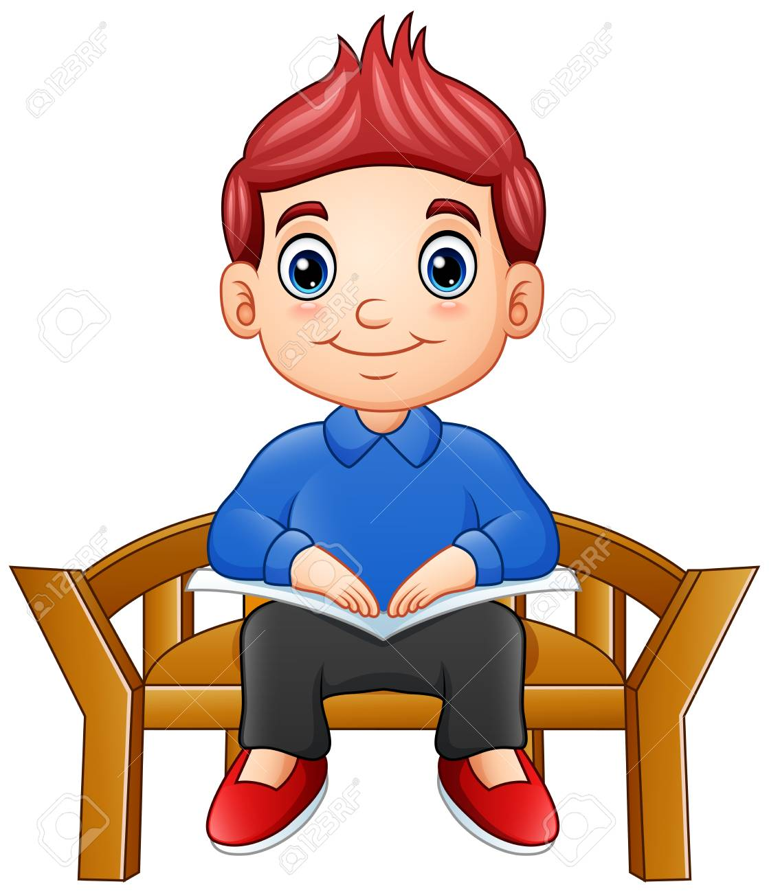Child Sitting On Chair Clipart.