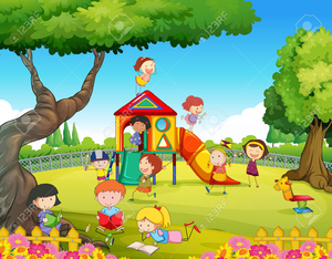Clipart Children Playing Toys.
