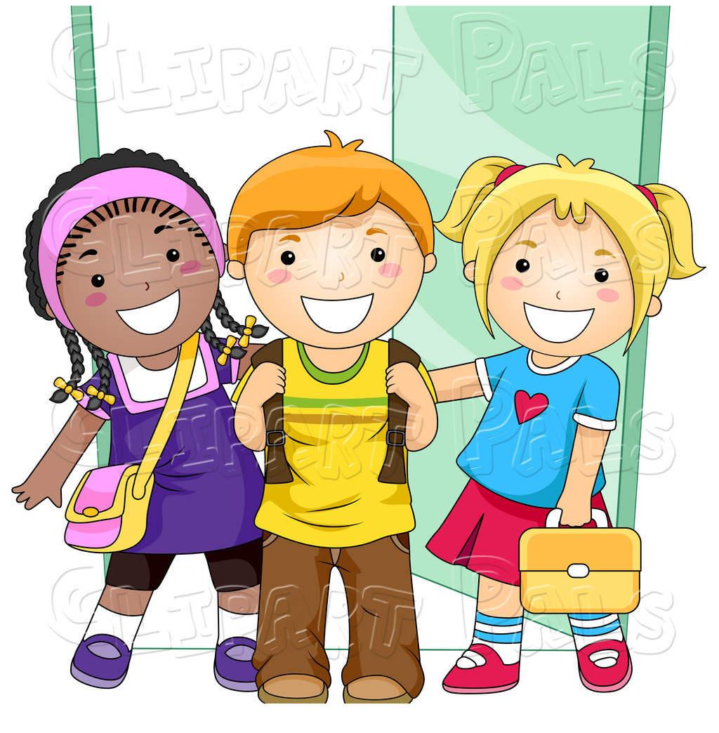 Children School Clipart Of Kids Free.
