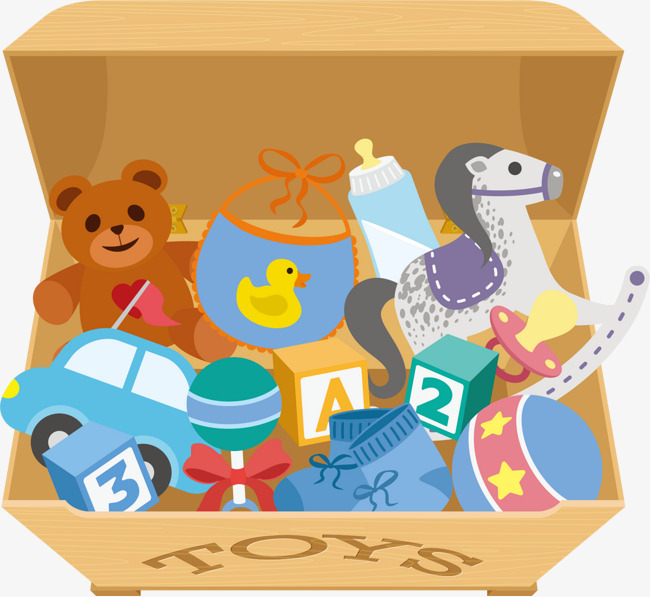 Box Of Childrens Toys, Toys Clipart, Kids Toys, Toy PNG and Vector.