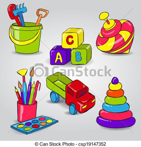 Set of Childrens Toys.