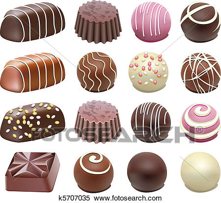 Chocolate candies Clipart.