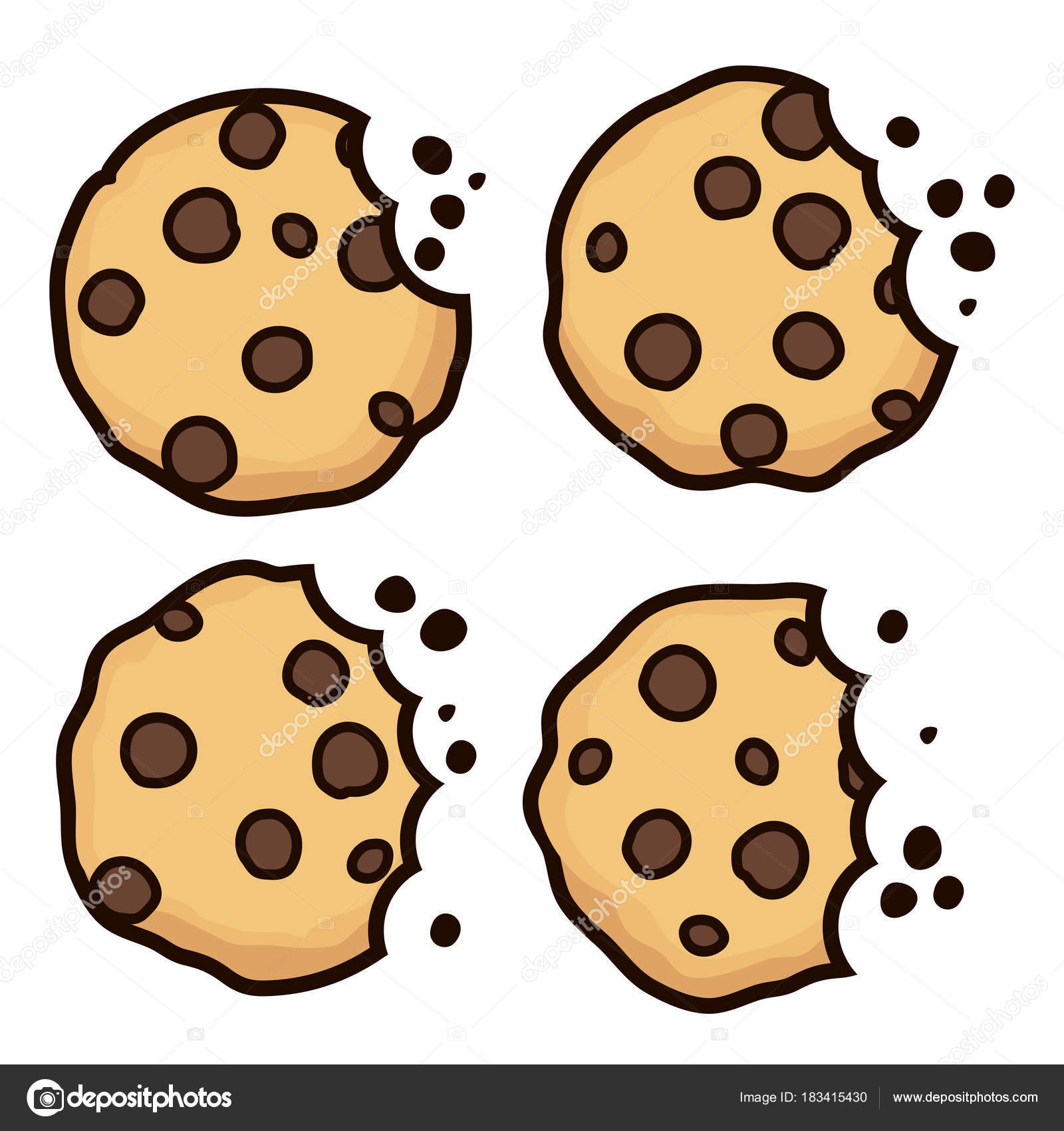 14 cliparts for free. Download Cookies clipart choco chip.