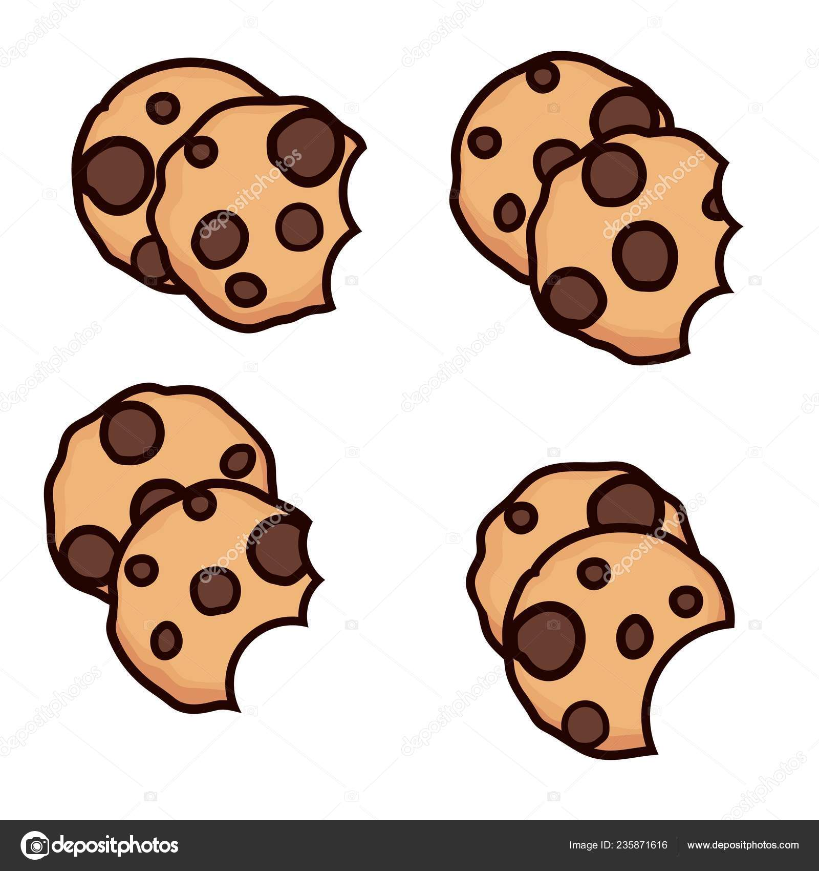 Clipart: chocolate chip cookies.