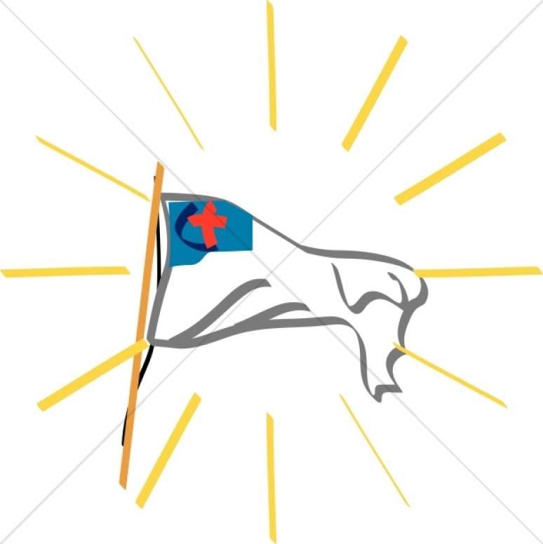 Christian Flag Clipart, Christian Flag Image, Christian Flag Graphic.