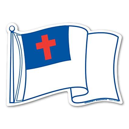 Waving Christian Flag Magnet.