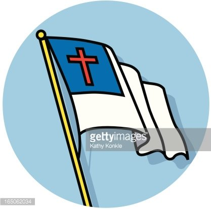 Christian Flag premium clipart.