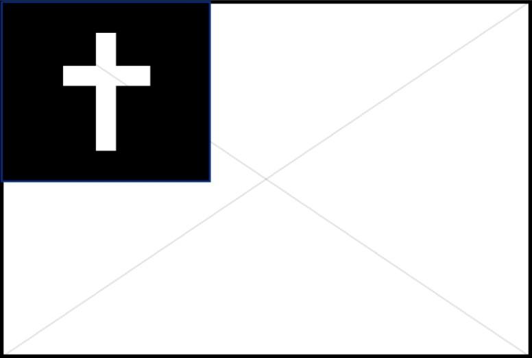 Black and White Christian Flag.