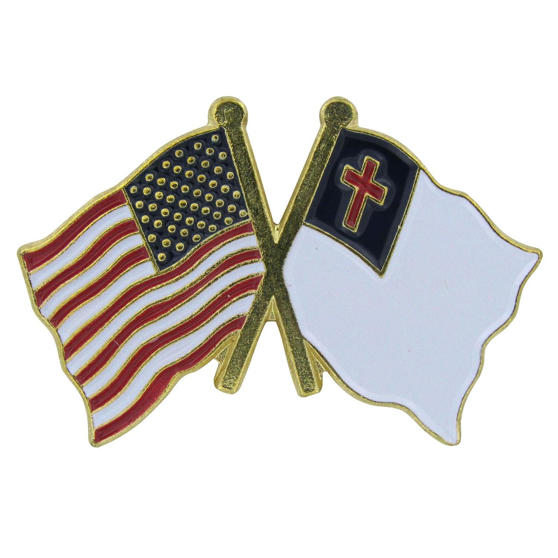 USA Flag/Christian Flag Lapel pin.