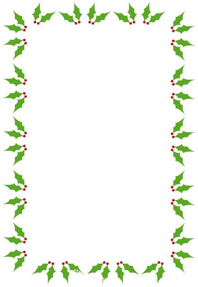Free christmas borders and frames clipart.