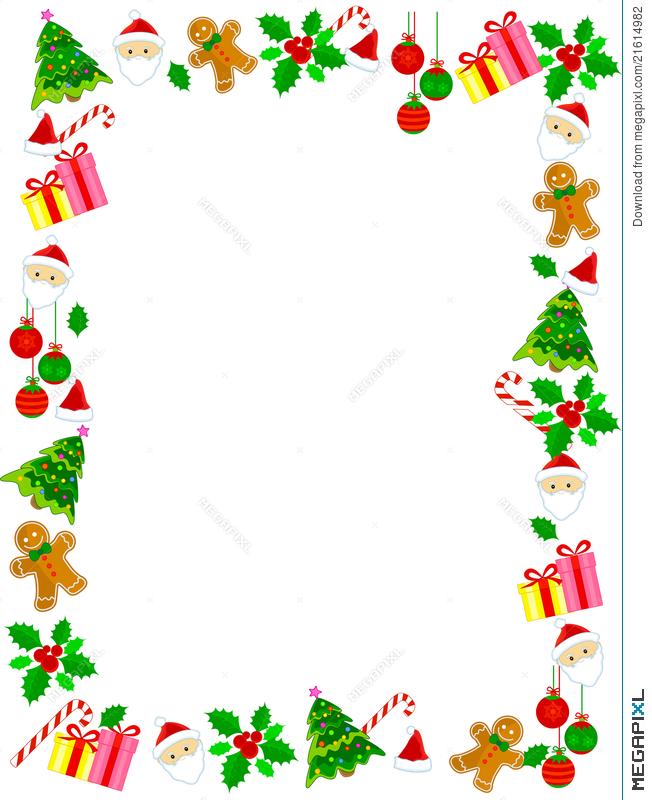 Christmas Border / Frame Illustration 21614982.