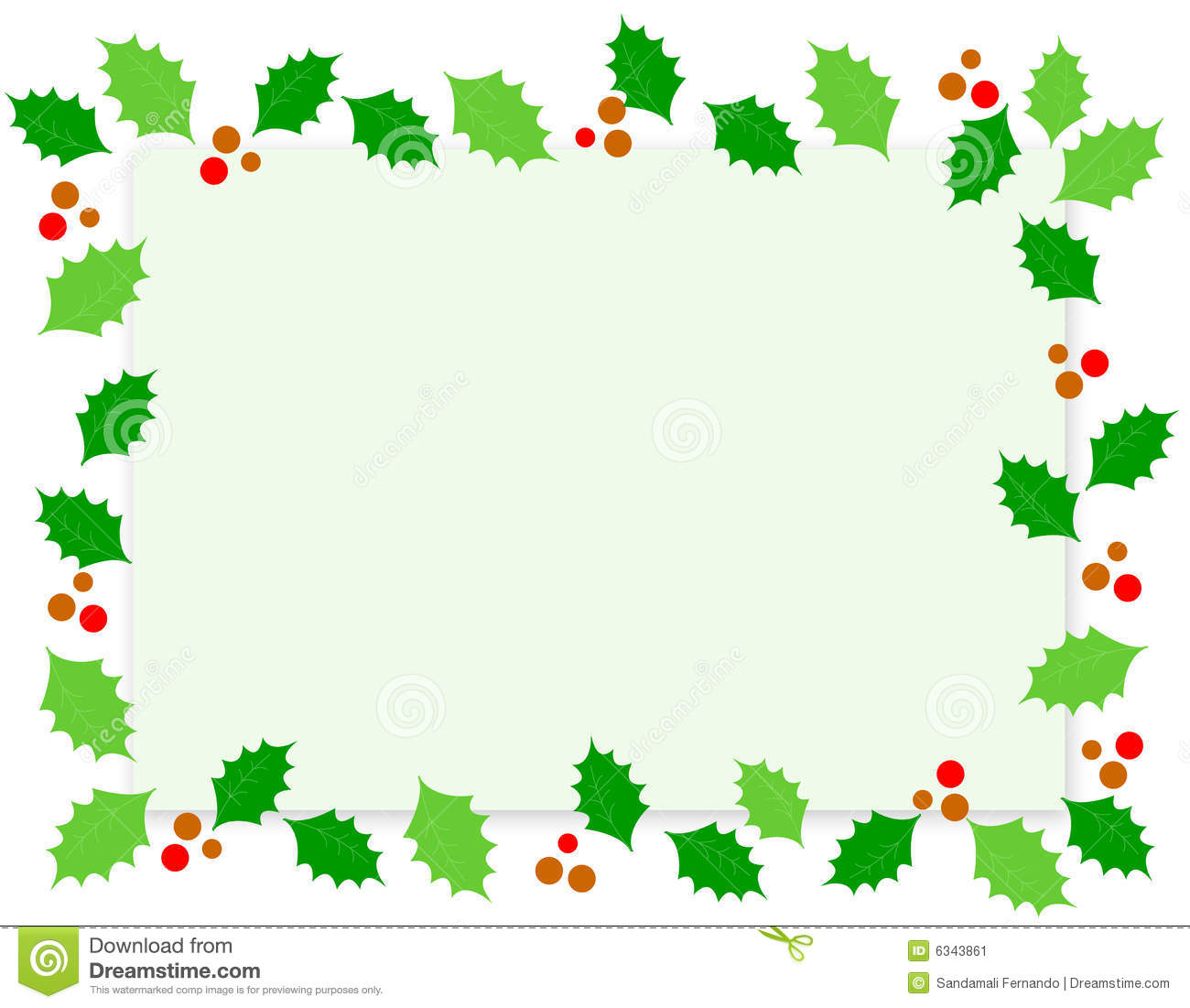 Christmas Border / Holly stock vector. Illustration of noel.