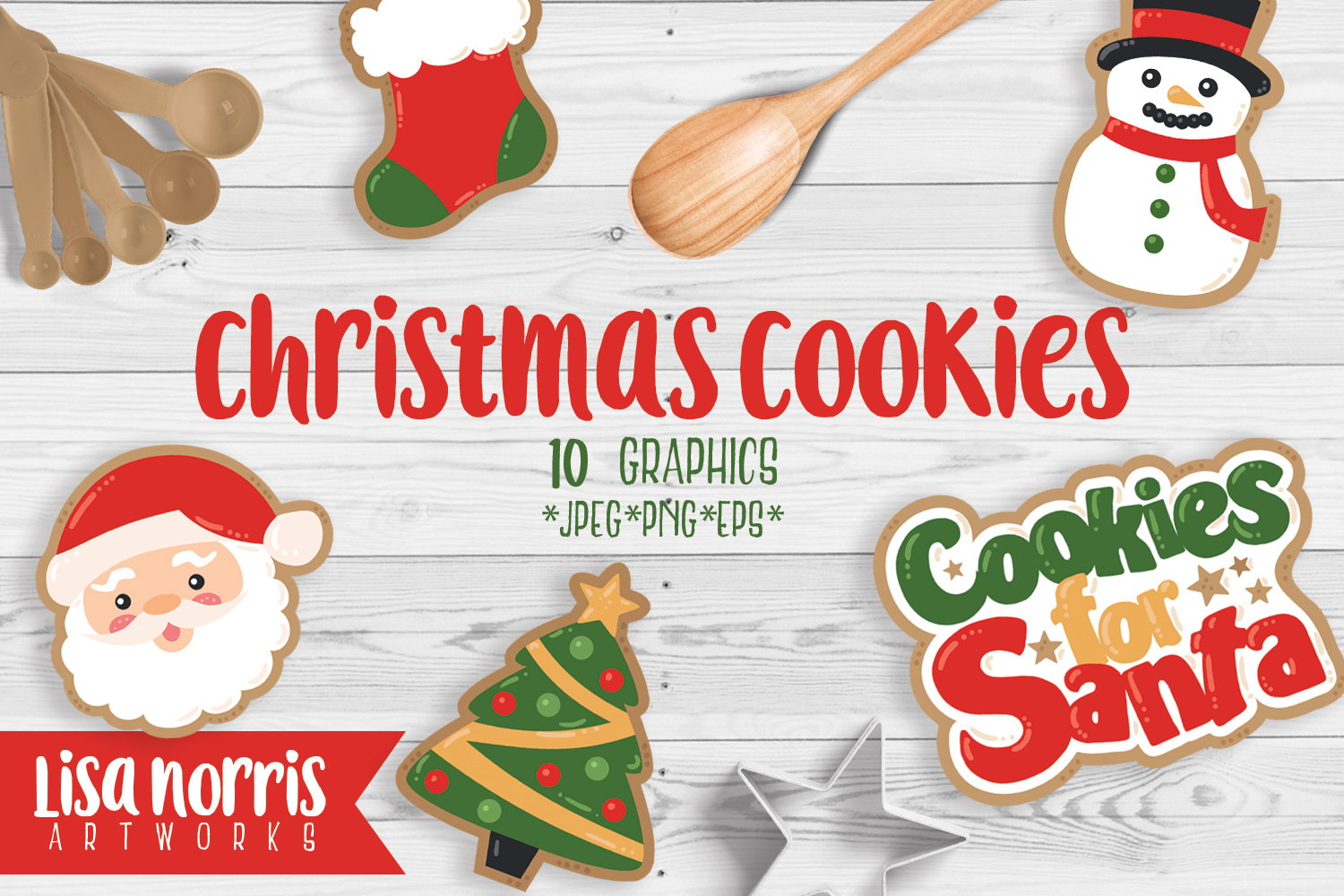 Christmas Cookies Clip Art Graphics.