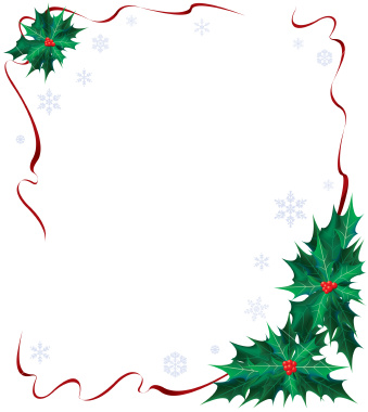 Christmas borders christmas holly clip art borders happy holidays.
