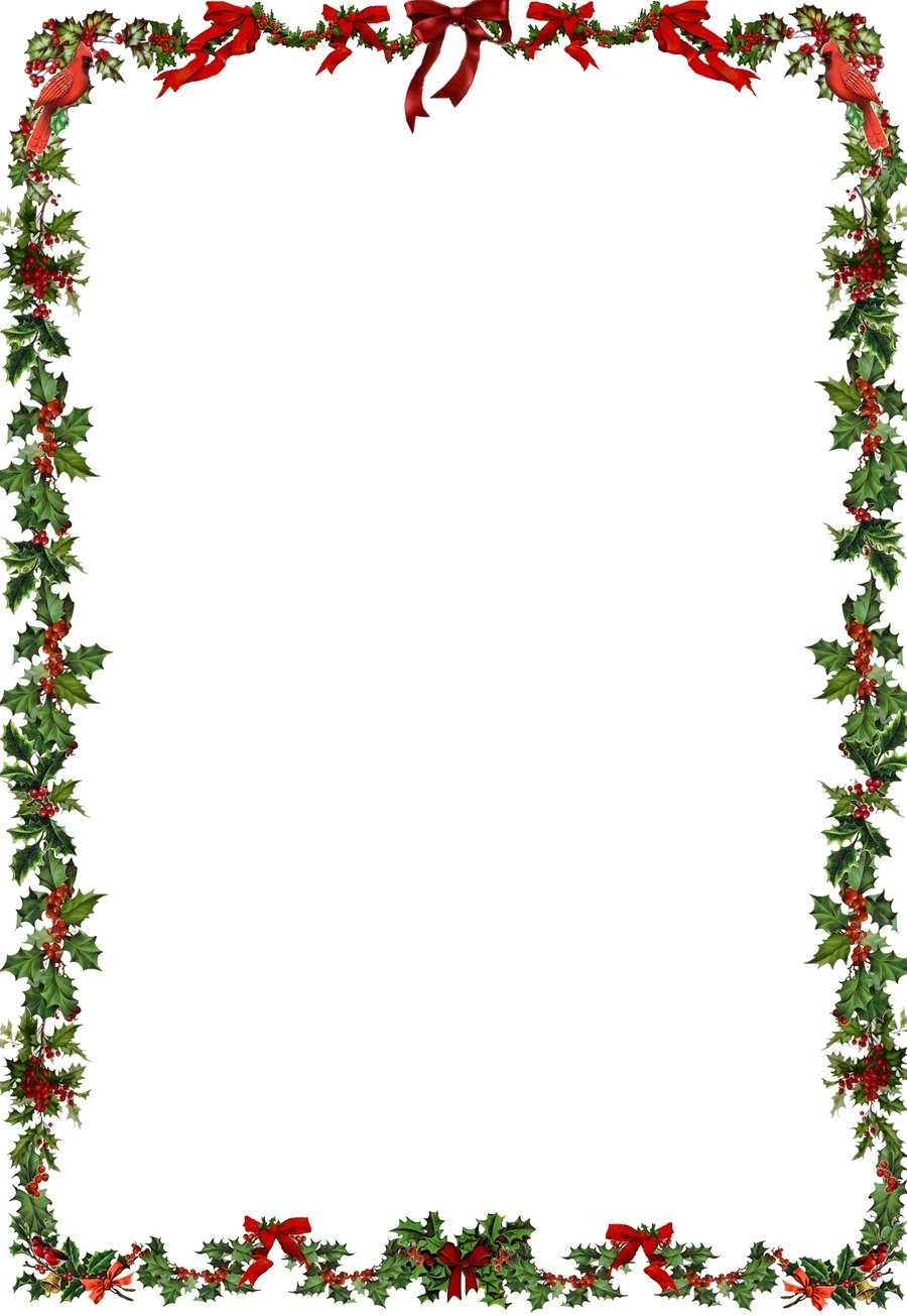 Christmas Holly Border Clip Art.