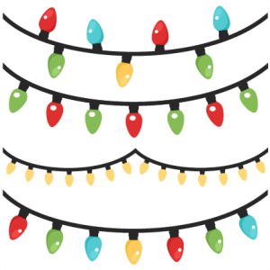 Christmas Lights scrapbook clip art christmas cut outs for cricut.
