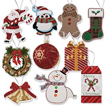 100 Pack of Large Christmas Gift Tags in 10 Assorted Designs by Gift  Boutique.