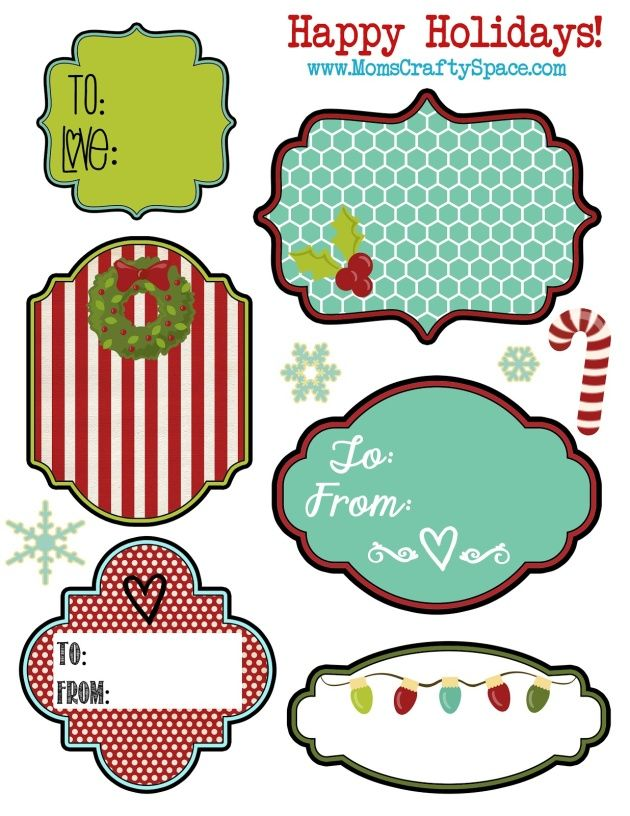 Free Clipart Christmas Gift Tags.