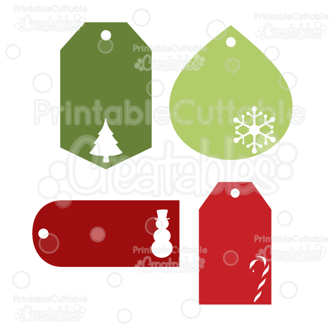 Christmas Gift Tags FREE SVG Cut Files.