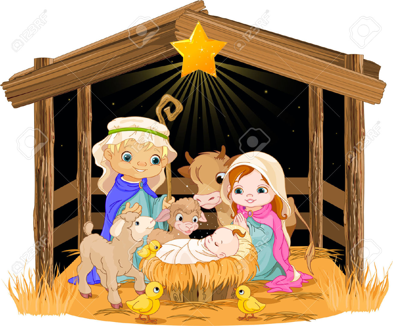 3,312 Nativity Scene Stock Vector Illustration And Royalty Free.