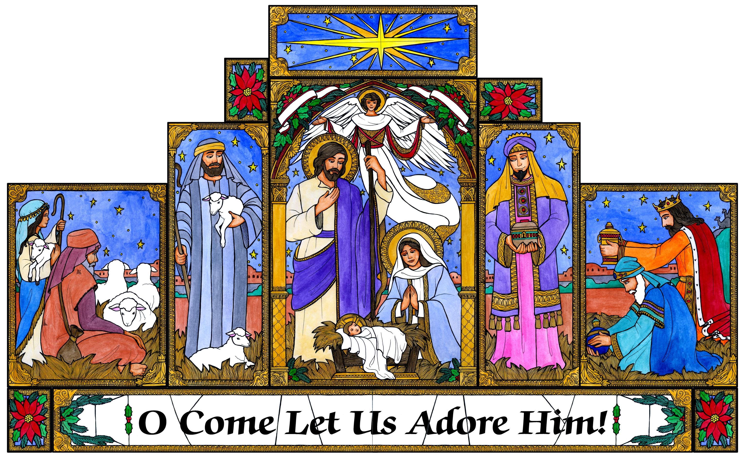 Christmas Clip Art Nativity Nativity Clip Art Christmas.