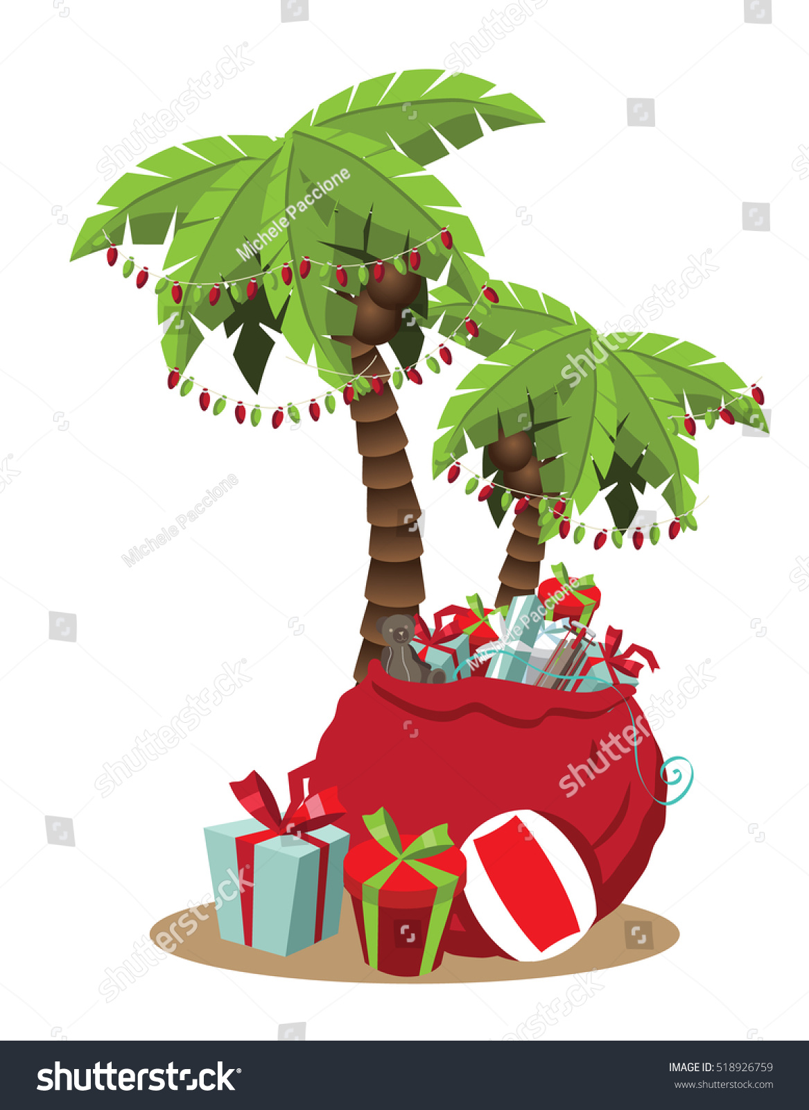 Christmas palm tree clipart 7 » Clipart Station.