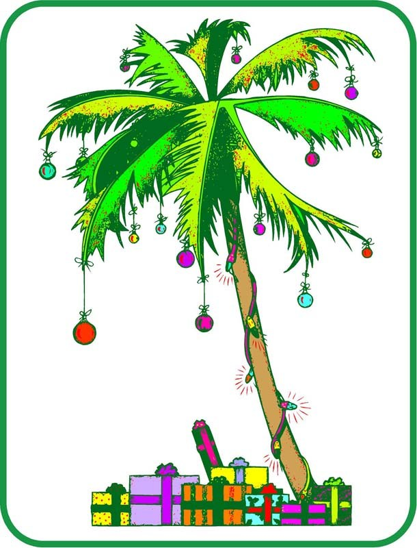 Christmas palm tree clipart 3 » Clipart Portal.