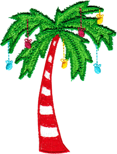Christmas palm tree clipart 5 » Clipart Station.