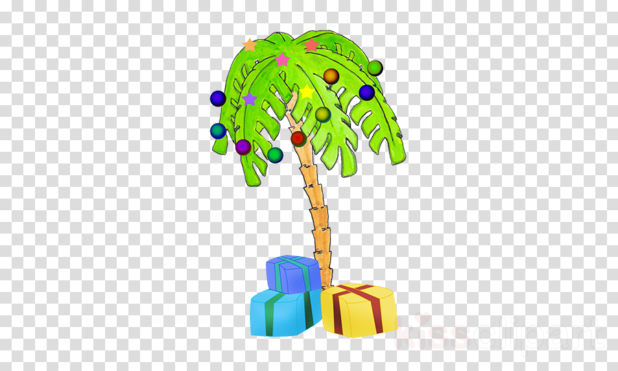 Free Clipart Christmas Palm Tree.