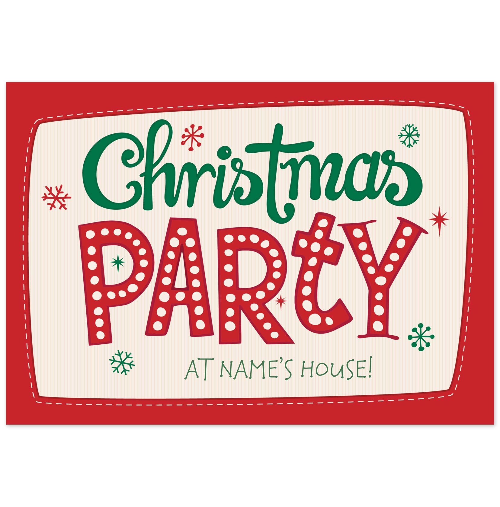 Text clipart christmas party pencil and in color text.