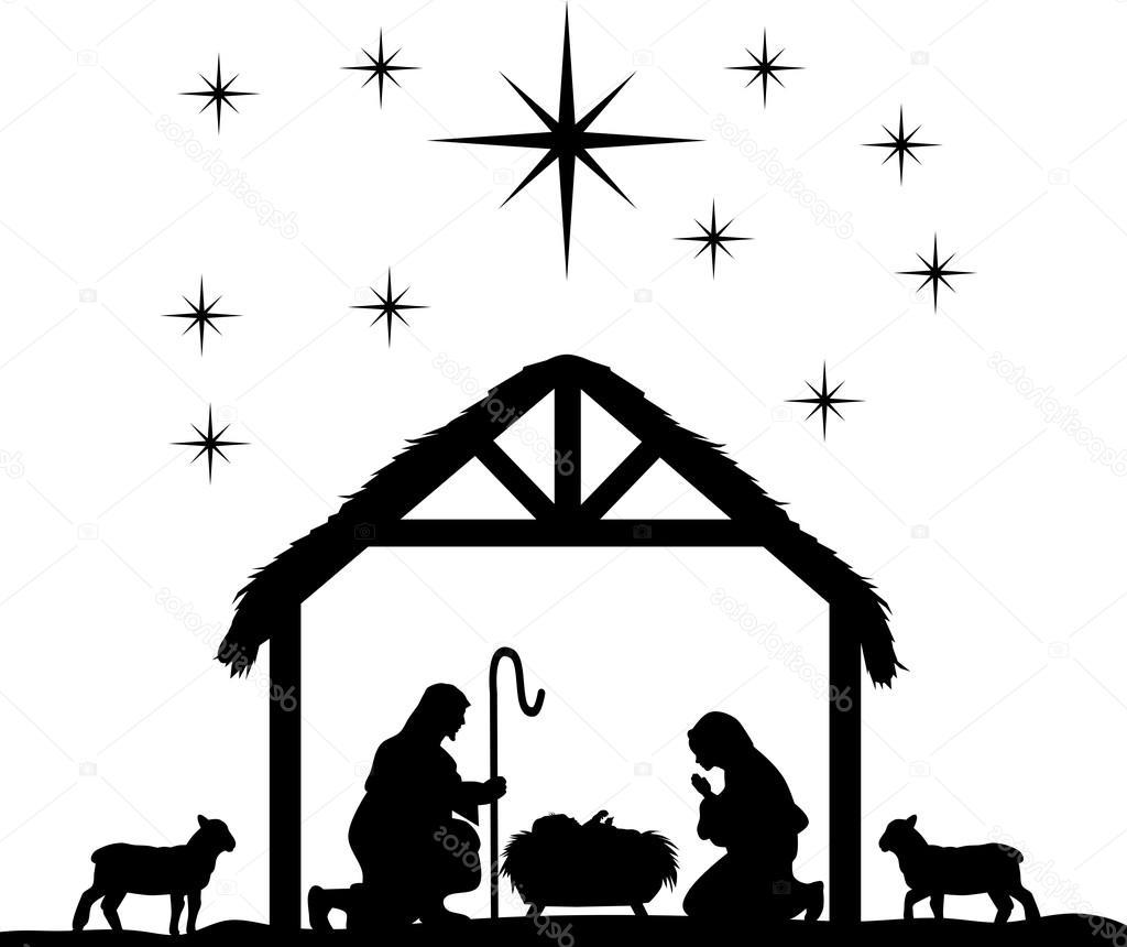Unique Manger Scene Silhouette Design » Free Vector Art, Images.
